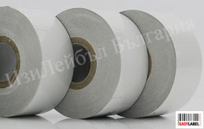 100 ролки Бяло кодинг фолио - термотрансферна лента за дата устройствa, Hot Foil, 30mm x 122m + БЕЗПЛАТНА ДОСТАВКА