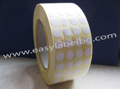 КРЪГЛИ Самозалепващи етикети на ролка, с подсилено лепило, бели, Ø20mm /4/ 8000, Ø40mm