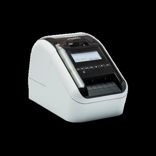 Етикетен принтер Brother QL-820NWB с жична и безжична мрежа, Bluetooth, AirPrint и LCD дисплей