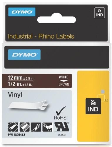 Dymo RhinoPRO 1805412 -12mm X 5,5m Кафяв Винил