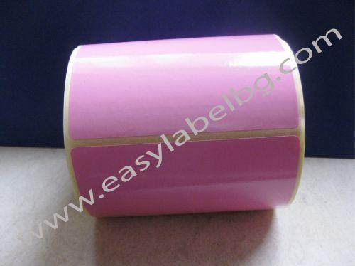САМОЗАЛЕПВАЩИ ЕТИКЕТИ НА РОЛКА, пастелен цвят: розов 100mm x 70mm