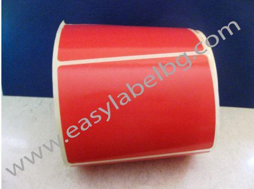 САМОЗАЛЕПВАЩИ ЕТИКЕТИ НА РОЛКА, пастелен цвят: червен 100mm x 70mm