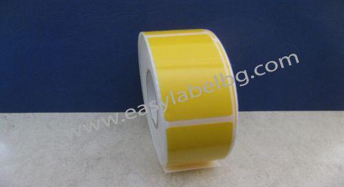 САМОЗАЛЕПВАЩИ ЕТИКЕТИ, жълт полиетилен (PE), 30mm X 62mm