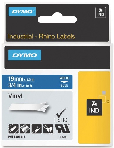Dymo RhinoPRO 1805420  -19mm X 5,5m Зелен Винил/Бял Надпис