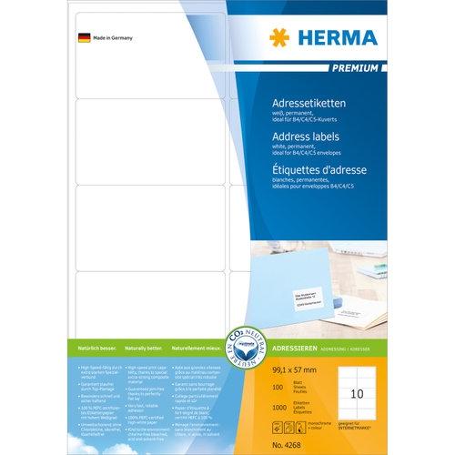Самозалепващи етикети  Herma, 99,1mm X 57mm