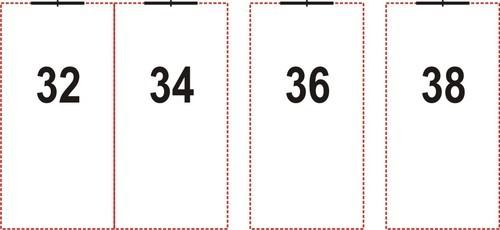Напечатани текстилни етикети от тафта, 40mm X 30mm