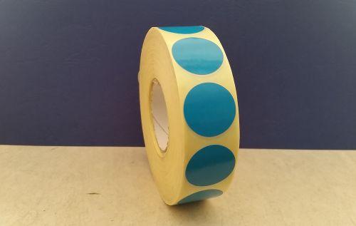 Жълти кръгли самозалепващи етикети на ролка, Ø25mm /1/ 2 000бр., ф40mm