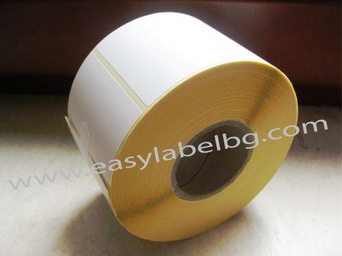 Термодиректни етикети 105mm х 74mm /1/ 2000бр., Ø76mm, с подсилено лепило