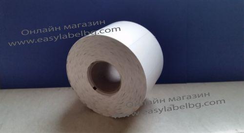 Етикети за стелажи на ролка, термодиректен картон, 70mm х 38mm, бели, 1000бр.