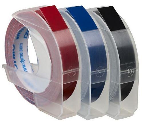 3D ЛЕНТА Dymo, 9mm X 3m, 3 броя сини