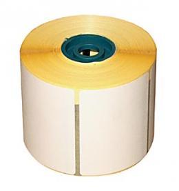 Самозалепващ етикет бели, 50мм х 30мм, 2 броя на ред, 10000бр. в ролка, шпула Ф76мм