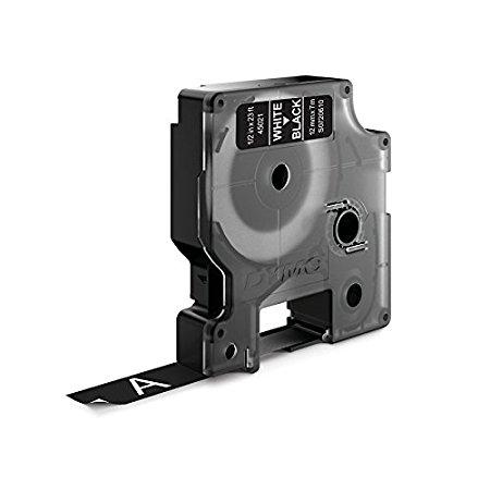 Dymo D1 45021 Tape 12mm x 7m White on Black