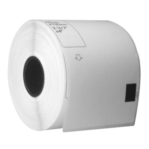 Консуматив Brother DK-11202 Shipping Labels, 62mm x 100mm, 300 labels per roll, Black on White, съвместими