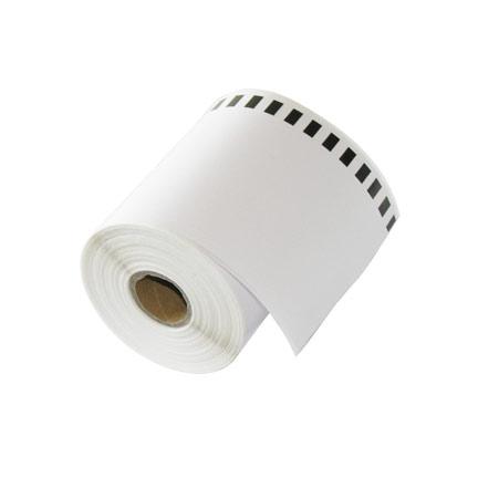 Непрекъсната бяла самозалепваща хартиена термо лента, 66mm x 30m
