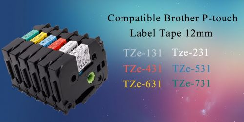 Съвместим Brother TZe-335 Tape White on Black Laminated 12mm