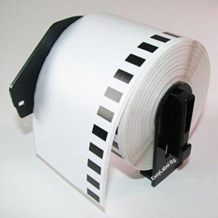 Непрекъсната бяла хартиена лента Brother DK-22223, 50mm x 30.48m(съвместими), със стойка