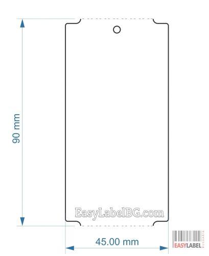 Eтикети от  PVC(PET), бели, 45mm x 90mm, 1 000бр.