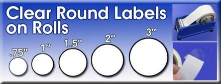 Печат (по ваше задание - с поръчка) на прозрачен етикет, стикер, Ø52mm - диаметър 52mm, 500бр.