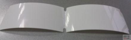 Напечатани правоъгълни бели PVC етикети ВНОСИТЕЛ / ПРОИЗВОДИТЕЛ, Арт. №4509008, 45mm x 90mm, 500бр.