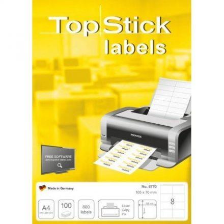 Самозалепващи етикети TopStick 8770, 105mm x 70mm, 100л. (800бр.)