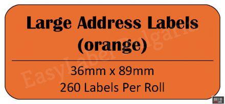 Съвместими 99012 Dymo етикети, 36mm x 89mm, оранжеви