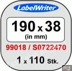 Съвместими 99018 Dymo етикети за архивиране, 38mm x 190mm, бели, Removable