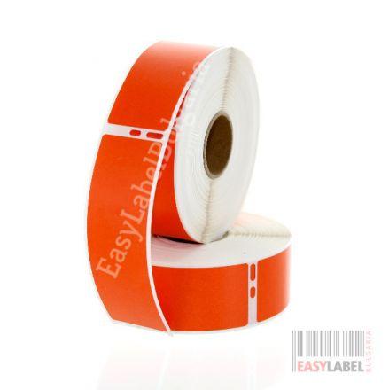 Съвместими 99010 Dymo етикети, 28mm x 89mm, червени