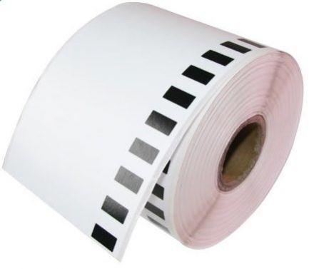 Непрекъсната бяла самозалепваща хартиена термо лента, 50mm х 30.48m
