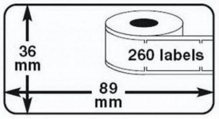 Съвместими 99012 Dymo етикети, 36mm x 89mm, морско зелено