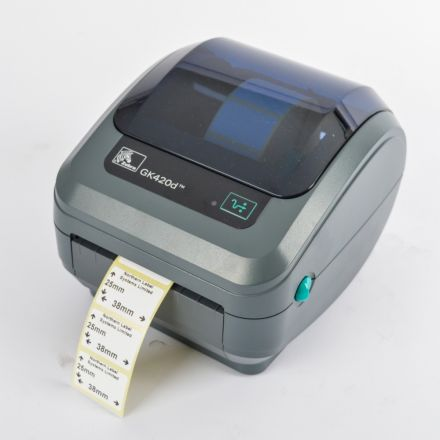 Direct Thermal Label Permanent Adhesive 38mm x 25mm 2,000 per roll For Small Desktop Label Printers