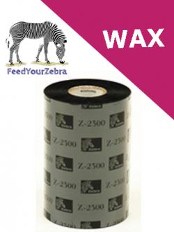 Оригинална Термотрансферна лента, Zebra 2300 Wax 02300BK11030, Черна, 110mm x 300m, OUT