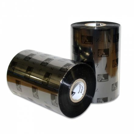 12 бр.Оригинални Термотрансферни ленти, Zebra 2300 Wax 02300BK11030, Черни, 110mm x 300m, OUT