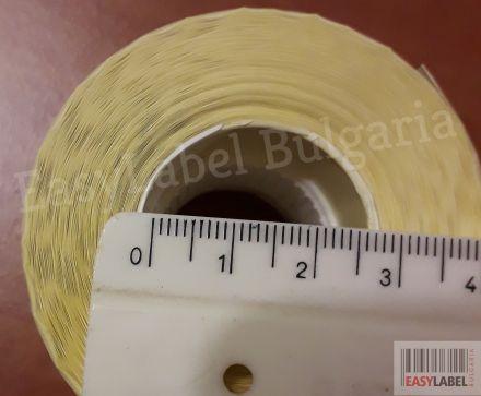 72 ролки термоетикети - шпула Ø25mm, 56mm x 25mm, без черна марка(репер) + БЕЗПЛАТНА ДОСТАВКА