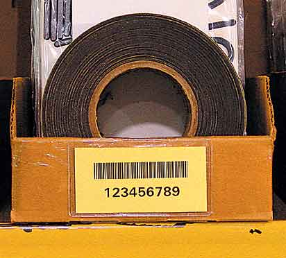 Етикети за стелажи на ролка, картон, жълти