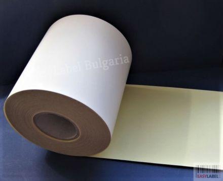 Нeпрекъсната самозалепваща хартия, бяла, 108mm х 50m
