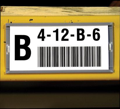 Етикети за стелажи на ролка, картон, бели