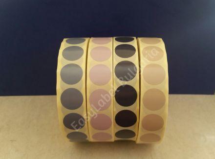 Кръгли цветни самозалепващи се етикети на ролка, 3 цвята, Ф19mm, 6 000бр. в ролка