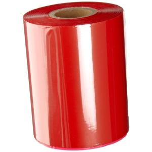 """Термотрансферна лента, восъчна - WAX, 65mm X 360m, шпула ф(1"""")25,4mm, OUT, червена"""