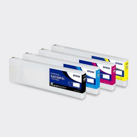 C33S020639 Epson Black Ink Cartridge UltraChrome glosy for ColorWorks C7500 Inkjet Printer