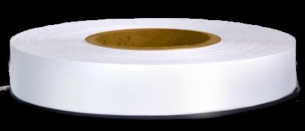 Текстилни етикети - сатен PS7303 A1, бял, 200m, неразнищващ се