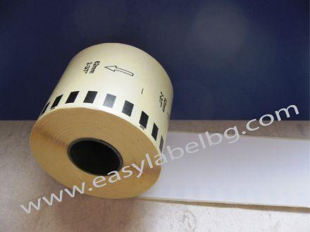 Непрекъсната лента самозалепваща хартия, бяла, 62mm X 30.48m