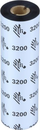 Термотрансферна лента Zebra 3200 Wax/Resin 3200GS11007, Черна, 110mm x 74m, OUT
