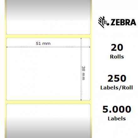 Оригинални Етикети Zebra 3003060 Z-Select 2000D, 50.8mm x 38.1mm, шпула 19mm