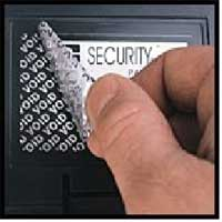 Защитни, гарaнционни етикети - silver VOID, 50mm x 30mm, 200бр.
