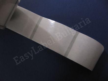 Прозрачен самозалепващ се правоъгълен стикер от PVC фолио, 30mm x 20mm, 500бр.