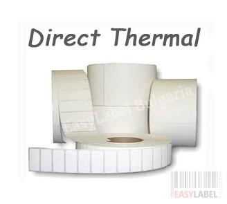 Термодиректни етикети, термоетикети DATECS, с черна марка(репер), бели, 51mm x 38mm