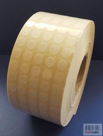 КРЪГЛИ бели самозалепващи PVC етикети с лесно отстраняемо лепило, Ø8mm