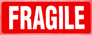 """Опаковъчно тиксо с печат """"FRAGILE"""", 48mm x 60m"""