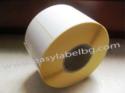 24 ролки x 2 580бр. термоетикети - шпула Ø25mm, 56mm x 25mm, без черна марка(репер)