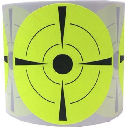 Жълти самозалепващи стикери за мишени за стрелба, Ø73mm, 200бр.